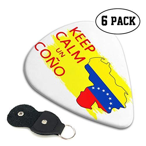 Irene Merritt Guitar Picks- Keep Calm Un Cono SOS Venezuela Guitar Picks With Leather Cases Bag £¨6 Pack£