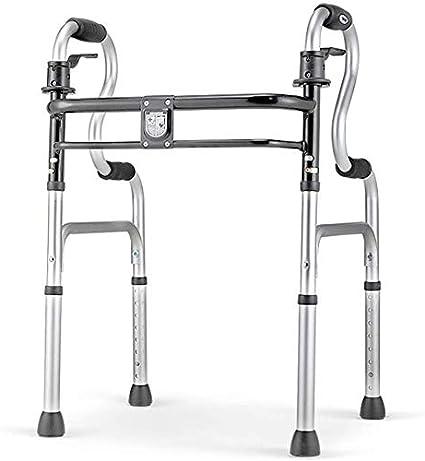 FEE-ZC Andador Plegable de Uso General para la Salud, Estructura Ligera de Aluminio para Caminar para Adultos Mayores, niños, tamaño de hasta 400 LB, Gris