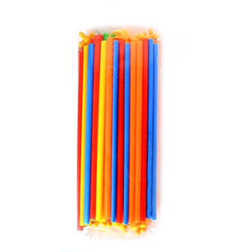 KENNEDY US Children Straws and Connectors Building Toys Colorful Interlocking Plastic Enginering Toys Fine Motor Skills Interlocking STEM Toys(50+50)