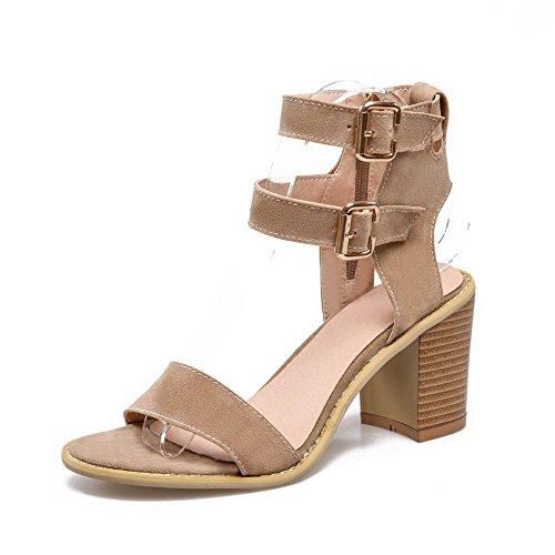 sandales Chunky style Mesdames givré abricot ROMANES balamasa talons qvwAfWtA