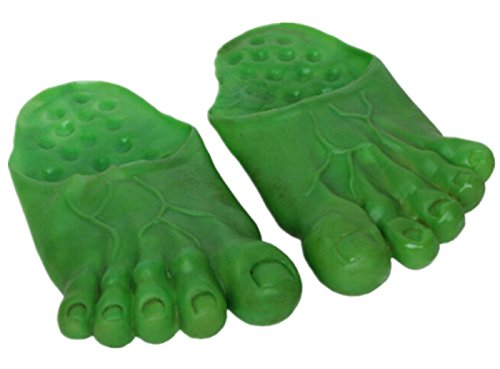 Bear boys Cosplay Ghost Hulk Green giant feet Bigfoot Count Slippers Socks Masquerade (Green) ()