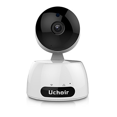 Uchoir Wireless IP Camera, 1080P 2MP HD Home Security Surveillance System, Two-way Audio Night Vision Wifi Camera, Smart Motion Detection Indoor Camera with Micro SD Card Slot, Pet Baby Monitor, White