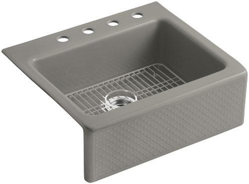 Kohler K-14571-T3-K5 Evenweave Design on Alcott Tile-In Sink, Translucent Cashmere