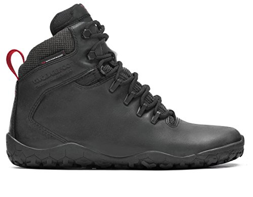 Vivobarefoot Women's Tracker FG L Leather Walking Shoe, Black, 41 EU/10-10.5 M US