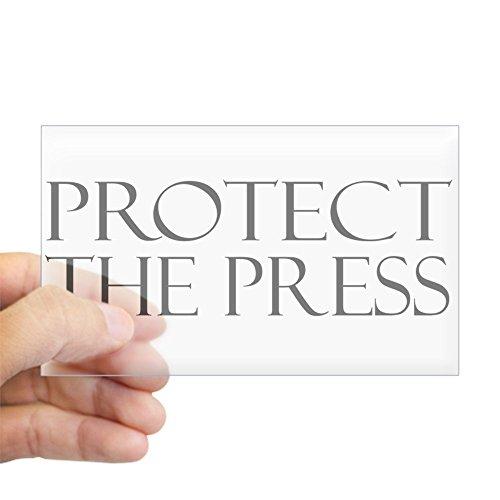 CafePress Protect The Press Sticker Rectangle Bumper Sticker Car Decal