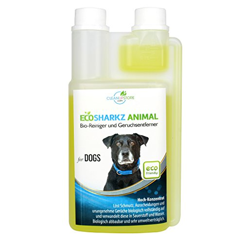 produit nettoyant et eliminateur d 39 odeur bio pour chiens ecosharkz animal spray d sodorisant. Black Bedroom Furniture Sets. Home Design Ideas
