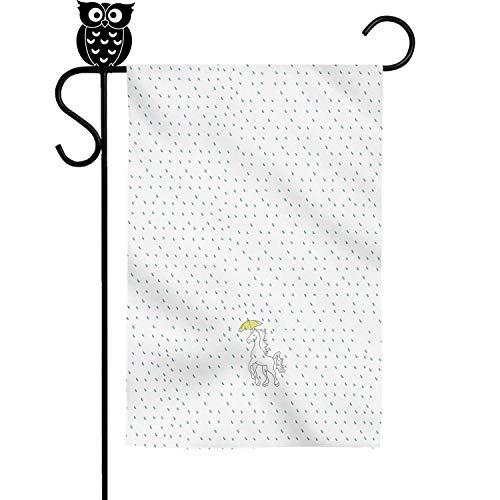 Kaiui Aidof Decorative Garden Flags Unicorns umbrella under