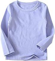 Niyage Toddler Kids T-Shirt Soft Comfort Tees Girl Boy Cotton Basic Long/Short Sleeve Tops