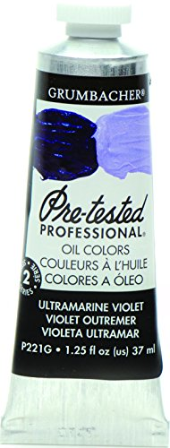 - Grumbacher Pre-Tested Oil Paint, 37ml/1.25 Ounce, Ultramarine Violet (P221G)