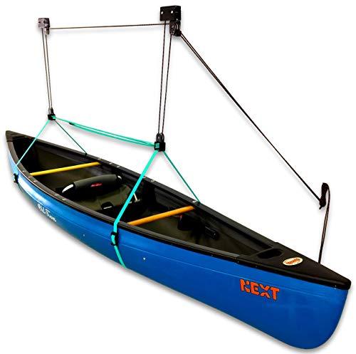 StoreYourBoard Canoe Ceiling Storage Hoist, Hi Lift Home and Garage Hanging Pulley Rack (Renewed)