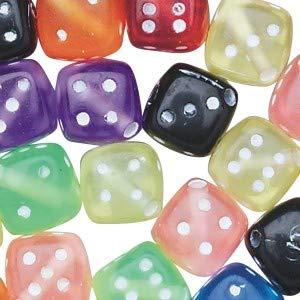 Assorted Dice Beads 1/2-lb Bag ()