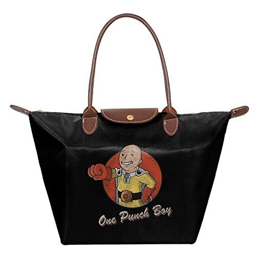 One Punch Man Japanese Webcomic Fashion Tote Handbags Black