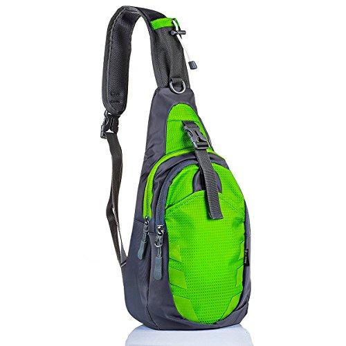 LC Prime Sling Bag Backpack Chest Shoulder Compact Fanny Sack Satchel Outdoor Bike Nylon Fabric Green