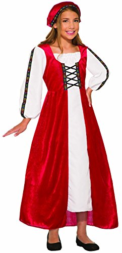 Forum Novelties Renaissance Faire Girl Child's Costume, Multi-Colored,
