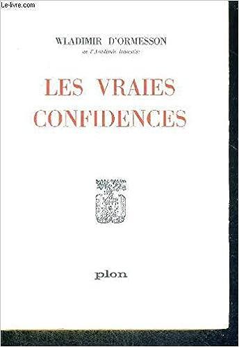 Livres Les vraies confidences pdf
