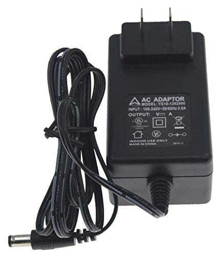AHRMA 12V AC/DC Adapter fit GME GFP181DA-1215 GFP181DA1215 Fit Digital Spectrum MemoryVue MV-800 MV-800-N DSI Part# U-30301 Digital Picture Frame Power Supply Battery Charger World Wide Input PSU