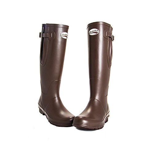 Tall Adjustable Dark Mat UK4 Rockfish Wellies Chocolate BwPZqn5OW6