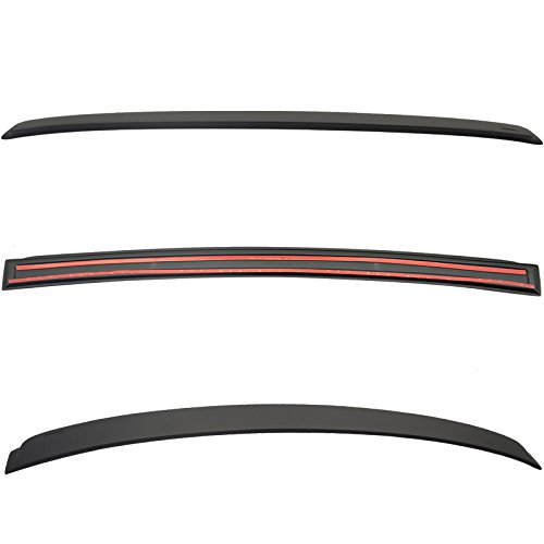Roof Spoiler Compatible With 2006-2011 BMW E90 4 DR 3-Series | AC-S Style ABS Matte Black Rear Spoiler Deck Lip Wing Bodykits by IKON MOTORSPORTS | 2007 2008 2009 2010 ()