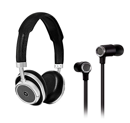 Master & Dynamic MW50 Wireless On-ear Headphone, Black/Silver and ME03 In-Ear Headphone, Black