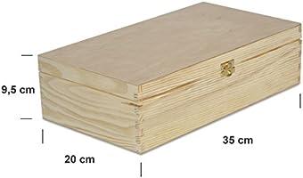Creative Deco Caja Madera Vino para Decorar | 2 Botella | 35 x 20 ...