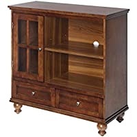 Convenience Concepts 8067000DWN Tahoe Highboy Television Stand, Dark Walnut