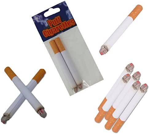 Play Kreative Fake Puff Cigarettes - Set of 24 Puff Paper Cigarettes for Prank, Joke,Gag or Smokers Gift