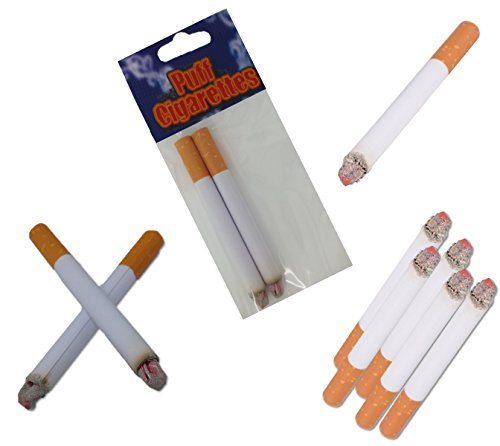 Play Kreative Fake Puff Cigarettes - Set of 24 Puff Paper Cigarettes for Prank, Joke,Gag or Smokers Gift ()