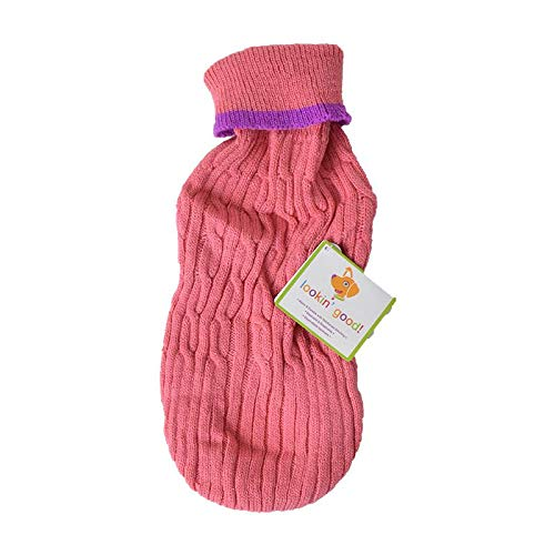 Fashion Pet Cable Knit Dog Sweater - Pink (40 Pack)