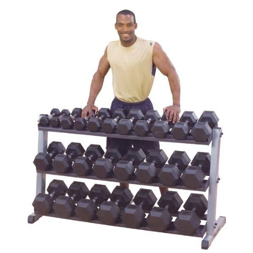 Body-Solid 3 Tier Horizontal Dumbbell Rack by Ironcompany.com
