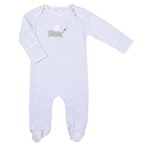 Magnolia Baby Boys Little Golfer Applique Footie Blue 6