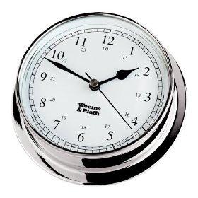 Weems & Plath Endurance Collection 125 Quartz Clock (Chrome) by Weems & Plath