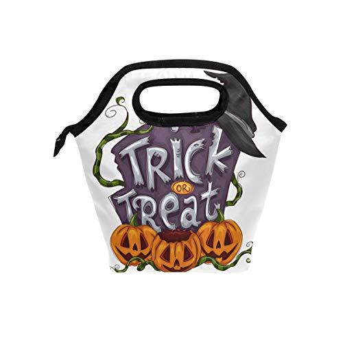 Halloween Pumpkin Resuable Lunch Bag Waterproof Lunch Holder