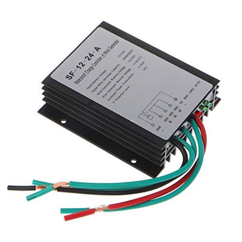 OlogyMart 300W / 600W 12V / 24V Adaptar Aerogenerador Controlador Controlador de Viento generador