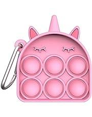 Push Pop Bubble Fidget Brinquedo Sensorial Mini Abacaxi Alívio do Stress Silicone Push Pop Fidget Toy Brinquedos de Treinamento de Raciocínio Lógico para Adultos Crianças