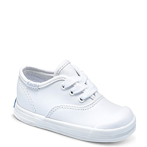 Keds Champion Lace Toe Cap Sneaker (Infant/Toddler),White,5 W US Toddler