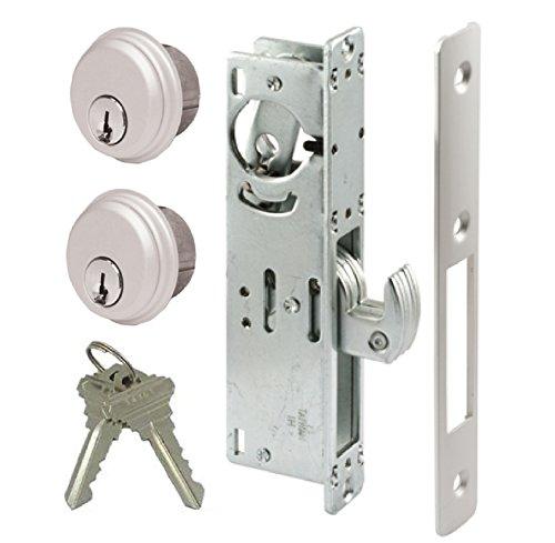 Storefront Door Mortise Lock Hook Deadbolt & Double Keyed Cylinder Combo, Adams Rite Cam, in Aluminum (1-1/8