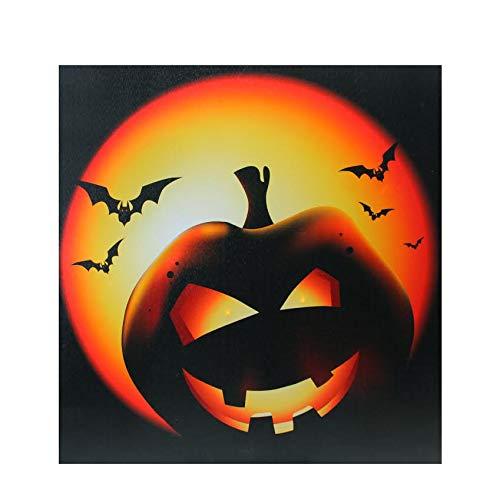 Northlight LED Lighted Bats and Jack-O-Lantern Halloween Canvas Wall Art 19.75