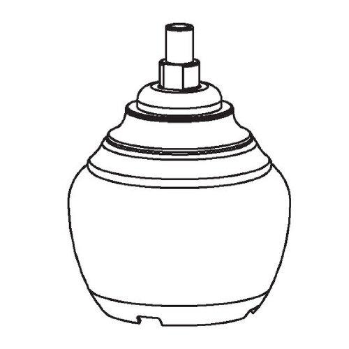 Chrome 2h Faucet Lavatory (Moen 100557 Part Handle, Monticello Widespread Two Handle Cross Lavatory & Bidet)