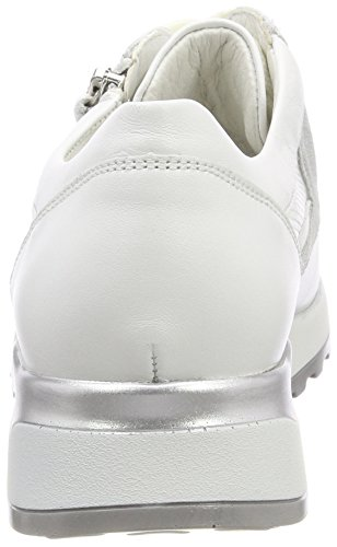 Donne Waldläufer Hirokosneakers Bianco (memphis Fachiro Scintillio Bianco Argento Bianco)