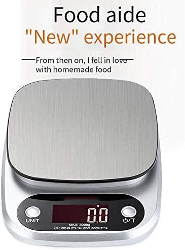 PRWJH Bilance da cucina elettroniche, bilance da cucina per bilance da 10 kg / 1 g, bilancia per caffè digitale in acciaio inossidabile