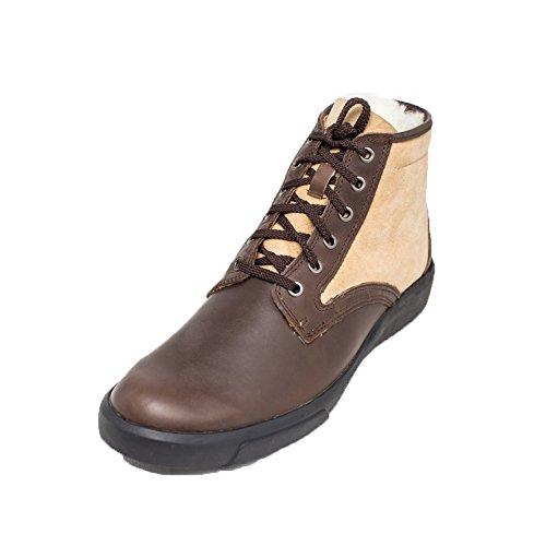Cosycost Hombres Oxfords Zapatos Para Caminar Con Lana, Cuero Cómodos Cálidos Casuales Zapatos De Invierno 019m Brown