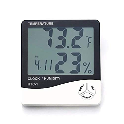 Elevin(TM)  HTC-1 Digital LCD Electronic Alarm Clock Thermometer Hygrometer Weather Station -