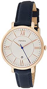 Fossil Women's Quartz Watch, Analog Display and Leather Strap ES3843