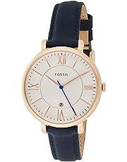 Fossil Women's ES3843 Jacqueline Analog Quartz Blue Watch