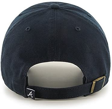 reputable site 5d13c 7375b ... official store mlb atlanta braves 47 brand navy basic logo clean up  home adjustable hat.