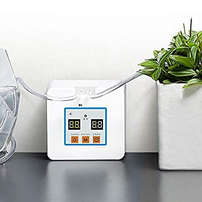 Automatic Drip Irrigation Kit, Self Watering System with Timer and USB Charging for Deck, Patio, Garden, Vegetable Gardens or Potted Plants, DIY 30-Day Programmable Water Timer
