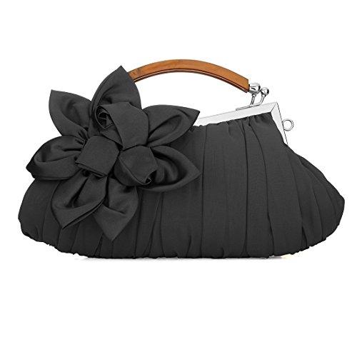 Chiffon Floral Handbag - 3