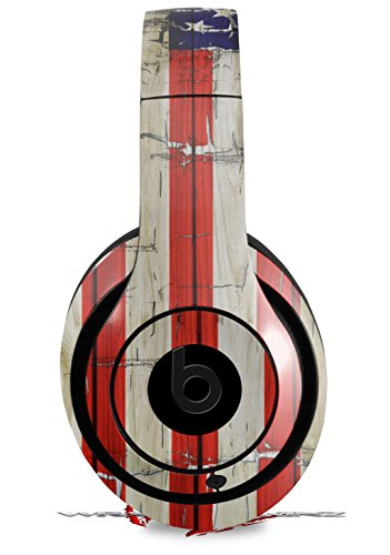 Skin Decal Wrap for Beats Studio 2 and 3 Wired and Wireless Painted Faded and Cracked USA American Flag HEADPHONES NOT INCLUDED