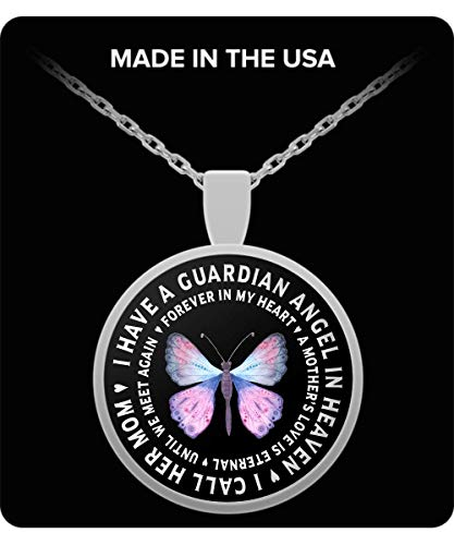 - Countrywide Gifts Mother in Remembrance Gift Pendant I Have a Guardian Angel in Heaven I Call Her My Mom Forever in My Heart in Memory Necklace Jewelry
