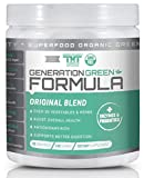 Generation Greens Powder   Organic Superfood Powder with 60 Powerful Ingredients   Chlorella, Spirulina, Wheat Grass and CoQ10 Included   30 Servings, Original